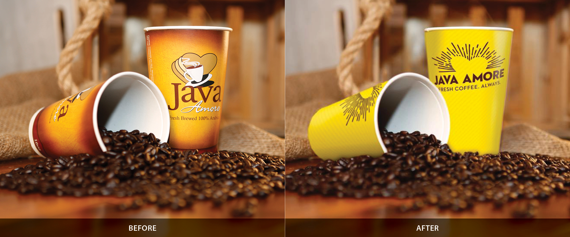 Love's Java Amore - Cup - Before & After